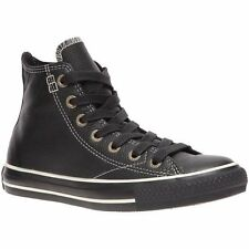Converse All Star Chuck Taylor European Hi Black Leather Casual Sneakers 1J854