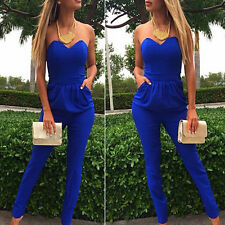 Sexy Womens Casual Summer Long Pants Trousers Playsuit Jumpsuit Romper Overall