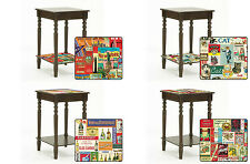FC123 NEW POSTER THEMED ESPRESSO CAPPUCCINO FINISH  END ACCENT TABLE NIGHT STAND