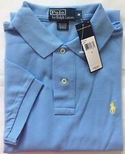 New Authentic Men Polo Ralph Lauren Polo Mesh Shirt Chatham Blue CLASSIC FIT S,M