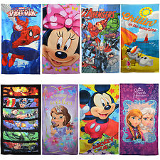 Disney Princess & Kids Marvel Hero Characters Beach Towel & Hood Poncho New Gift
