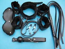 2015 7pcs Full Body Bondage Set Lover toy collar blindfold handcuff Whip clamp