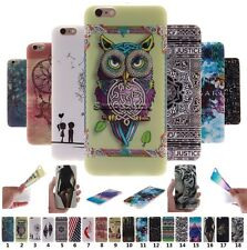 Cute Colorful Painted Soft TPU Rubber Gel Case Cover Skin Back For Apple iPhone