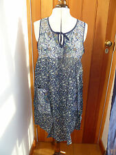 H & M FLOATY BOHO FLORAL TUNIC DRESS S M BROWN OR BLUE BNWT