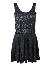 Mr.Gugu & Miss Go Stars Can Shine Without Darkness Black Skater Dress