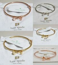 New AUTHENTIC Kate Spade KS Love Notes Rose Gold Silver Ctystal Bangle Bracelet