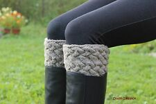 HANDKNIT wool leg warmers, boot cuffs, boot toppers, 100%wool, from EUROPE