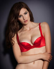 Agent Provocateur JENA in Red Satin Plunge Bra Ret:$190 New w/Tags
