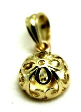 GENUINE SOLID 9CT YELLOW OR ROSE OR WHITE GOLD HALF BALL FILIGREE FLOWER PENDANT