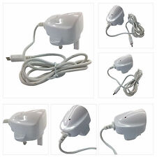 WHITE 3 PIN UK MAINS PLUG WALL USB COMPATIBLE CHARGER FOR LATEST MOBILE PHONES