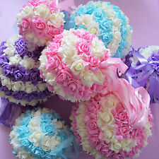 Foam Rose Pomander Flower Kissing Ball Wedding Party Home Holiday Decoration