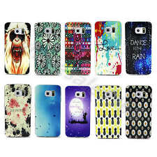 Watercolour Blossom Soft TPU Silicone Rubber Gel Back Case Cover F Mobile Phones