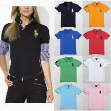 15 Styles New Women's Summer Short Sleeve Solid Color Casual Polo T-shirt M-XXL