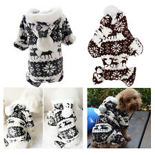 Fashion Warm Winter Hoodie Jumpsuit Coat Clothes Costume For Pet Dog Puppy 5Size