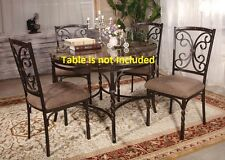 Kitchen Dining Room Modern Metal Framed Dining Chairs Furniture side Chair set