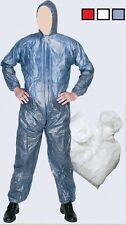 Strong Disposable Polypropylene Hooded Coverall Overall Boilersuit Elasticated x
