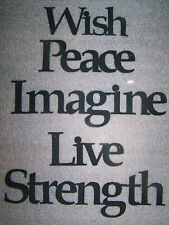 """IMAGINE """"Words to Live By"""" Wall Art Hanging Metal Sign"""