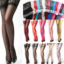 Fashion Sexy Stockings Women Lady Lace Top Stay Up Thigh-Highs Pantyhose Tights
