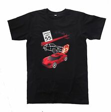 "Men's 100% Cotton T-Shirt with Special Effect Text 2015 ""Speed Limit"""