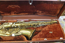 King Super 20 Tenor Sax 1950's in case WORKS Beautiful detailed orign. owner