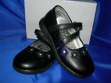 Girls School Shoes Casual Black Velcro IVY Sizes 6-12 Available