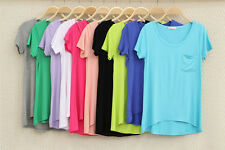 New Summer Fashion Women Ladies Loose Short-sleeve T-shirt Casual Tops Blouse