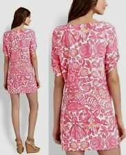 Lilly Pulitzer Camie Hotty Pink Sailors Valentine Cotton Jersey Dress Small EUC