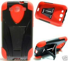 BLACK & RED T-Stand Hybrid Cover Case for Samsung Galaxy S3 SIII