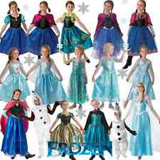 GIRLS ADULT FROZEN ELSA ANNA CLASSIC DELUXE MUSICAL DISNEY FANCY DRESS COSTUME