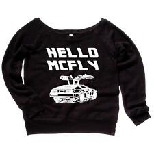 Hello McFly Womens Sweatshirt Back To The Future Quotes Soft Comfy Top Triblend