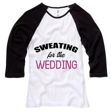 Sweating For The Wedding Womens Baseball Shirt Workout Soft Comfy Top