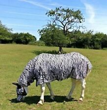 "New Design Horse fly rug combo attached neck cover Zebra Print 5'6""- 7'0"" sale"