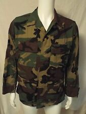 US Military Issue Army Air Force USAF Woodland Camo BDU Combat Jacket Shirt C/W