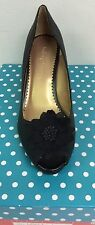 Lindsay Phillips Courtney Black Python Wedge Shoes Sandal New With Original Box