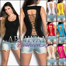 NEW SEXY LADIES FASHION sleeveless TOP XS S M L shop online WOMENS CASUAL SHIRTS