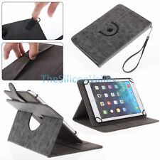 """360 Rotating Stand Folio Leather Case Cover Skin for Android Tablet 7"""" 8"""" 10"""""""