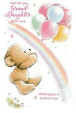 cute grand-daughter happy birthday card granddaughter - 10 cards to choose from!