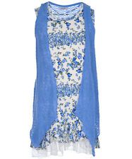 """Beautees Little Girls' """"Blue Roses"""" Dress with Cardigan (Sizes 4 - 6X)"""