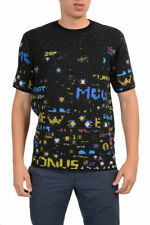 McQ By Alexander McQueen Men's Multi-Color Short Sleeves Wool Sweater US S M XL