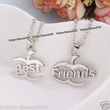 Best Friends Necklace Set Love Heart Gift For Her Him Mum Daughter Couples Wife