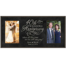 Personalized 40th 4x6 Anniversary Wedding Gift Picture Photo Frame Engraved
