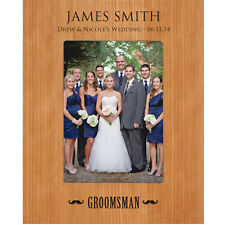 Personalized 4x6 Groomsmen Wedding Gift Picture Photo Frame Engraved