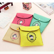 Newly Hygiene Sanitary Napkins Package Small Cotton Storage Bag Purse Case