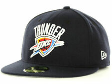 Oklahoma City Thunder New Era NBA Logo Fitted 59FIFTY Cap NWT (Navy) Men's Sizes