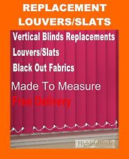 Vertical Blinds Black out Replacement Slats Fabric SPARE PARTS