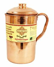 Indian Art Villa Pure Copper Water Jug Pitcher with Storage Kitchen for Health
