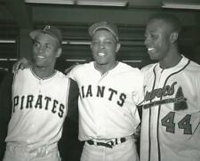 Baseball Legends Roberto Clemente, Willie Mays, Hank Aaron Photo Picture