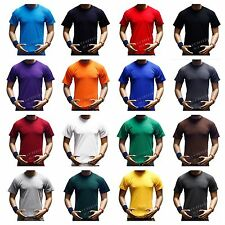 Men's Plain Crew Neck Short Sleeve T-Shirts  Lot Thick  Big & Tall Cotton  S-7XL