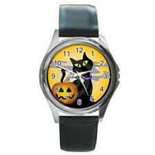 HALLOWEEN BLACK CAT PUMPKIN WATCH PLUS 6 OTHER STYLES