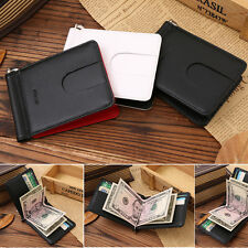 Business Men Topper Genuine Leather Wallet Slim Money Clip Credit Card Holder ID